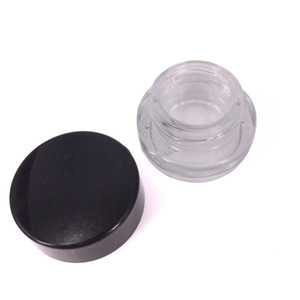 2019 Grau Alimentício 5 ml de 3 ml Não-Vara de Vidro Recipiente De Cera Jar Dabber Seco Herb Concentrado de óleo de Recipiente Para E Cigarro G9 henail Mais vape caneta