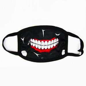 Tokyo Partido Anime Dentes de terror Máscara Adulto adolescente Fun Fancy Dress metade inferior da face Boca Muffle máscara reutilizável poeira quente Máscaras Windproof algodão