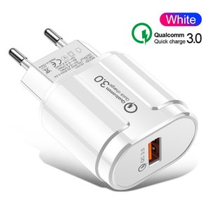 Quick Charge 3.0 USB Charger 1 Port Fast Charging Plug Adapter da UE US parede Mobile Phone Carregador Para Samsung Xiaomi Huawei