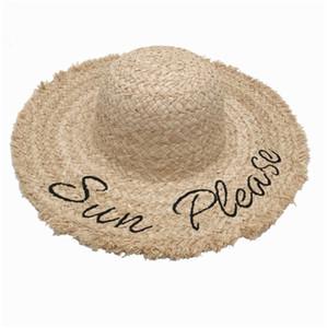 Été Designer Plage Cap 2020 Chapeaux Mode Bonnet pour femme réglable M Lettre Caps Femmes Chapeaux de paille excellente qualité