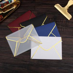 20 adet / takım Şeffaf Kağıt Zarf Sıcak Damgalama Baskı Düğün Mektup Davet Scrapbooking Hediye için Kağıt Zarf Kalınlaştırmak