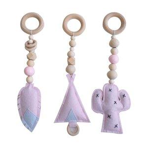 Baby Gym Toy Frame Sensory Nursery Kids Room Decoration Infant Clothes Wooden Rack D08C