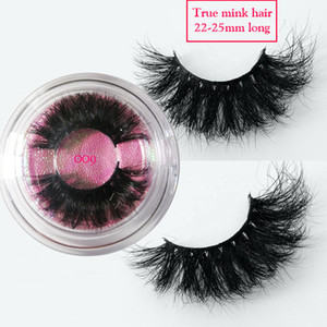 25MM long mink lashes 3D Mink Hair False Eyelashes Criss-cross Wispy Cross Fluffy 22mm-25mm Lashes Extension Handmade Eye Makeup Tools
