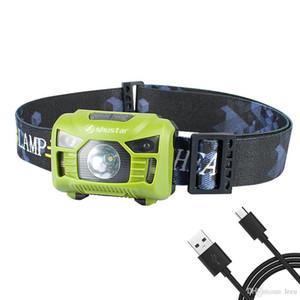 캠핑 + USB 케이블 바디 모션 센서 헤드 램프 유도 USB 충전식 헤드 라이트 2 스위치 모드 헤드 손전등 토치 램프