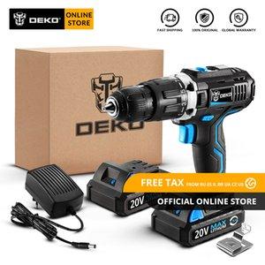 Originale Drill DEKO GCD20DU3 20V MAX cordless cacciavite elettrico agli ioni di litio Mini Power driver a velocità variabile LED 2 batterie