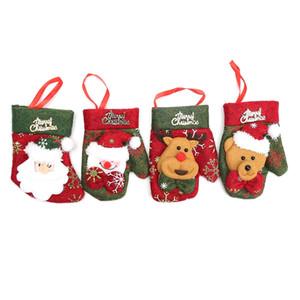 1 Stück Weihnachten Handschuhe Silberhaltertaschen Abendessen Messer-Gabel-Halter Weihnachtsmann Besteckset für Weihnachtsdekoration