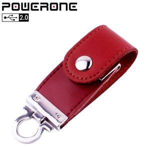 Llavero de metal caliente pendrive 8GB 16GB 32GB 64GB Piel USB Flash Drive Pen Drive Pendriver Flash Memory Stick Memory Stick