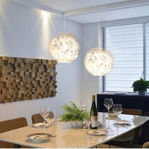 Restoran Salon Bar Showroom E27110V`260 için Lamba Asma Art Deco Cam Topu Kolye Işıklar LED Altın / Gümüş Çiçek Cam