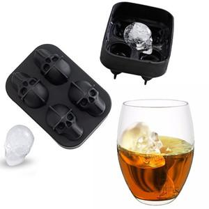 4 ızgara kafa silikon buz küp kalıp buzlu şeker çubukları dondurma şeker sopa silikon kalıp kişilik 3D stereo silikon buz tepsisi