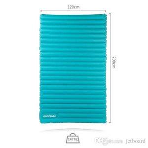 100% nagelneu Naturehike 40D Nylon 200x120x9.5cm Doppel Aufblasbarer Schlaf Pad Ultra Outdoor-Camping-Bettwäsche Outdoor-Pads
