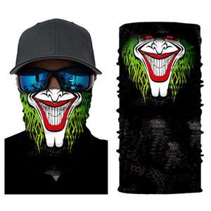 36 Estilos cráneo Máscaras esqueleto magia de bicicletas Ski cráneo mitad de la cara máscara del fantasma de la bufanda de cuello 50 * 25 cm Ciclismo Máscara Festival Suministros ZZA1328