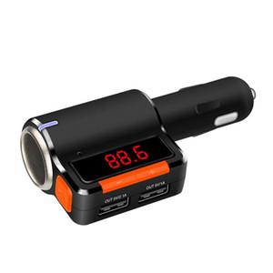 M10 Dual Графство USB Автомобильное зарядное устройство Bluetooth Handsfree вызов Автомобильный MP3-плеер FM-передатчик - черный