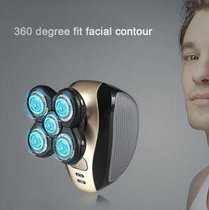 10pcs KEMEI KM-1000 4D Male Face Care 5-in-1 Suit Replaceable Portable Razor Nose Trimer Hair Clipper Electric Shaver