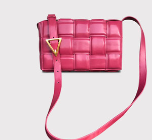 Проложенный Кассетный Новый конструктор класса люкс Сумочка Подушка ретро Real из натуральной кожи плеча мешок хлеба женщин сумка