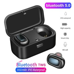 L1 Bluetooth 5.0 Kopfhörer TWS drahtlose Kopfhörer Twins Earbuds 5D-Stereo-Kopfhörer Sports Headset IPX5 Wasserdicht
