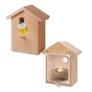 La jerarquía del pájaro de la jaula alimentador del pájaro al aire innovador Suministros One Way espejo exquisito alimentador por succión de la ventana de la Copa Decoración mascotas