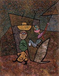 Paul Klee Traveling Circus Home Décor peint à la main huile d'impression HD Peinture Sur Toile Wall Art Toile Photos 191113