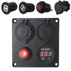 5v 3 .1a Alüminyum Levha Bağımsız Anahtarı Çift Usb Kombinasyon Paneli ile Voltmetre İçin Otomobil CEC _636