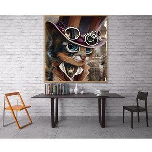 5D diamant chat broderie Paintings strass motifs de diamant diy peinture croix chat Point peinture diamant Chambre mosaïque décor