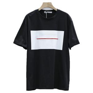 1: 1 20ss New Herren T-Shirt Weinlese 100% Baumwolle Männer Frauen-Sommer-Art und Weise beiläufige Straße loses Weiß Sport Man Tops TShirts Druck