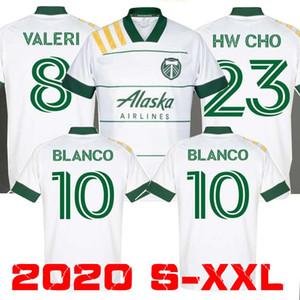 크기 : S-XXL 2019 MLS 남성 포틀랜드 팀 버스 홈 축구 유니폼 (20 개) (21) MLS BLANCO CHARA 발렌틴 발레리 MEN 축구 셔츠