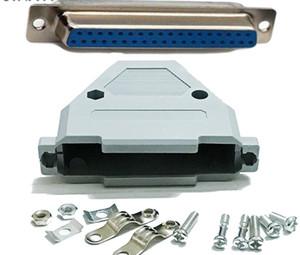 Freeshipping 50pcs adaptador de conector / porción DB37 macho hembra de plástico cubierta de la capilla + Carcasa
