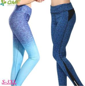 Respirável Aptidão Seca Treinamento Atlético Pant Compressão Elástica Calças de Yoga Sexy Slim Fit Execução Skinny Leggings Mulheres Plus Size