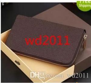 Moda con estuche con cremallera monedero largo estilo monedero diseñador cartera de embrague con 60015 60017