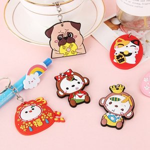 Fascini belli Portachiavi animale gomma morbida Cute Panda Gatto Cane Scimmia chiave Borsa auto anello per le donne catena chiave di Lucky giocattoli del regalo