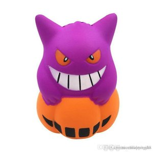 Squishy de Halloween Nuevo demonio PU Simulación 12cm Helado de calabaza Squishy Slow Rising Squeeze toys Descompresión Niños Toy cartoon Novedad