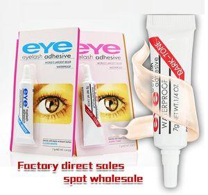 Yeni Yapışkan Yanlış Eyelashes Göz Kirpik Tutkal Makyaj Şeffaf Beyaz Siyah Su geçirmez Makyaj Araçlar 7 g 2 renk