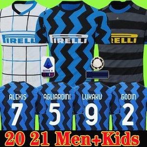 ERIKSEN Lukaku Lautaro SKRINIAR Inter 2019 2020 Milan futbol forması SENSI Barella forması 19 20 futbol üst kiti gömlek Erkekler Çocuk üniforma setleri