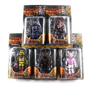 Noel hediyesi için perakende paketi ile Freddy'nin Beş Nights PVC Eylem rakam 17cm Bonnie Foxy Freddy oyuncaklar 5 Fazbear Ayı Doll bebek oyuncakları