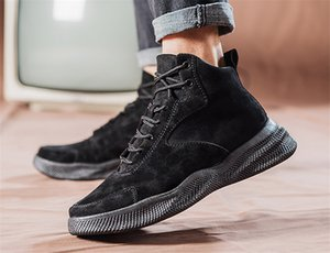 Hot Sale 2019 With Box Breathable sneakers foreign trade explosion models canvas shoes students outdoor warm men's shoes factory39-44