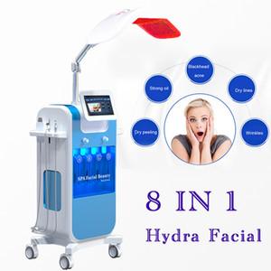 8en1 diamante microdermoabrasión Hydra dermoabrasión oxígeno Jet Peel oxígeno spray de agua HydraFacial dermoabrasión Peeling Machine acné eliminación