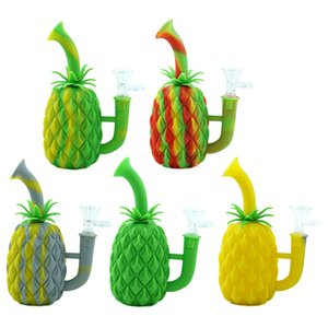 2020 Newsmoking pipes Silicone unique pineapple Tobacco Silicone Smoking Pipes Cartoon Herb Cigarette Pipe Smoking Accessories dab rig bongs