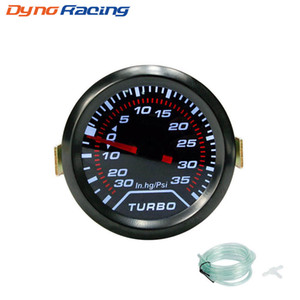 "2"" 52mm Turbo Boost Gauge PSI Humo Dial Dash luz blanca interior calibrador del metro del coche"