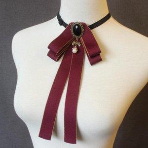 Solide Couleur Casual Ruban Bowtie Bow Tie Hommes et femmes T-shirt Bow Tie Vêtements Accessoires
