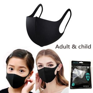 Designer Anti-Dust Cotton Mouth Mask Black Protective Masks Unisex disposable facemask Adult Wearing Black Fashion Black White blue