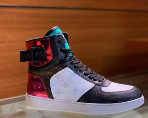 Rivoli Sneaker Boot Hommes Monogramme en toile Baskets montantes Baskets en cuir de luxe Designer pour hommes Casual Bottes de randonnée Escalade Box Chaussures