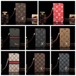 Cassa del telefono di modo di marca per la copertura di iphone 11 pro max progettista di cuoio del telefono per iPhone X Xs XR xs max 6 6s 7 8 più A10