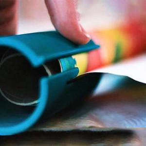Weihnachten Kleine ELF Sliding Einwickelpapier Cutter-Räumungs Einwickelpapier Cutting Tools machen Cuts in Sekunden für Geschenk RRA2333