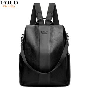 فيكوينا POLO المرأة حقيبة الظهر أنثى 2018 الكتف جديد حقيبة متعددة الأغراض عارضة أزياء السيدات حقيبة صغيرة حقيبة السفر للبنات