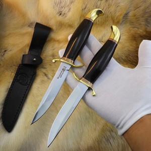 couteau droit de haute qualité OEM 440C bois de fer en laiton EDC extérieur couteau de survie tactique Benchmade micro BM fruit acier froid couteau cadeau poussoir