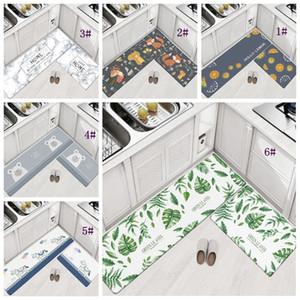 45 * 75 cm Ev Halı Yatak Odası Oturma Odası Paspaslar Için PVC Zemin Halı Mutfak Yağ geçirmez Ped Banyo Giriş Su Geçirmez kaymaz Mat DBC DH1122