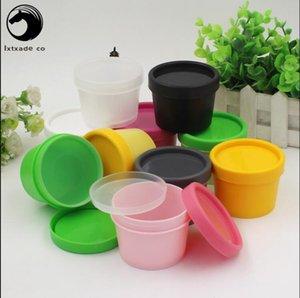 30 pcs Livraison gratuite 50 ml 100 ml Mini Rechargeables de bouteilles vides en plastique masque Algues boue Emballages cosmétiques contenants de détail