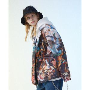 SURF 남자 2019 새로운 제품과 유럽에서 반항적 인 유화의 가을 천사와 카드 인쇄 코트 재킷의 조류