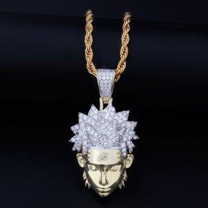 Personaje de dibujos animados colgante nuevo Mens collar de Hip Hop del animado de Naruto colgantes de moda collar de oro 14k joyería collar de cadena