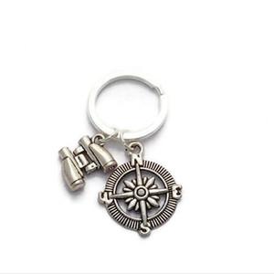 argento tibetano Idea Telescope Bussola Portachiavi Ciondolo anello della catena chiave ciondolo fascino auto fai da te portachiavi A288