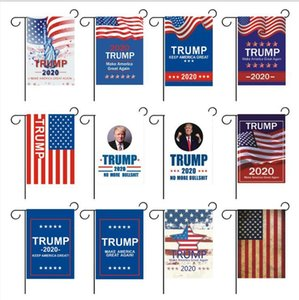 2020 US Election Supplies 13 Styles Trump Banner Slogan Trump Flag Campaign Banner Election flag 30*45cm 100pcs
